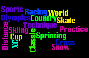 Word Cloud About XC Skiing